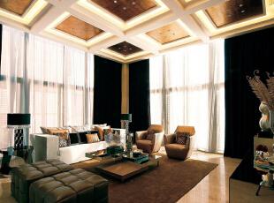 ,200平,24万,现代,四居,客厅,白色,棕色,