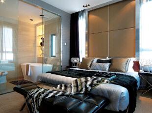 ,200平,24万,现代,四居,卧室,棕色,