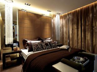 ,200平,24万,现代,四居,卧室,棕色,白色,