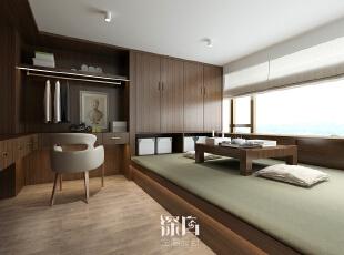 ,160平,35万,日式,三居,休闲室,深棕色,白色,
