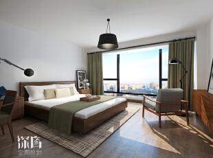 ,160平,35万,日式,三居,卧室,深棕色,白色,
