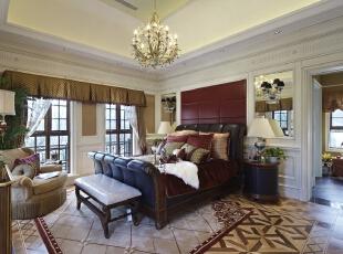 ,215平,28万,欧式,四居,卧室,红色,白色,棕色,