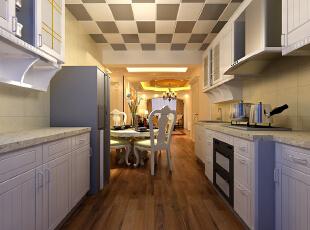 【南昌实创整体家装】餐厅欧式风格效果图,120平,16万,现代,三居,餐厅,欧式,厨房,黑白,