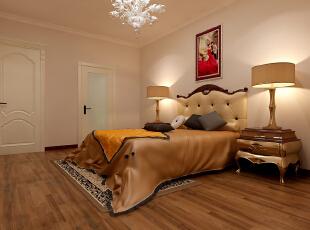 【南昌实创整体家装】卧室欧式风格效果图,120平,16万,现代,三居,卧室,简约,欧式,暖色,