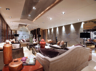 ,160平,30万,混搭,大户型,客厅,原木色,白色,