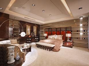 ,160平,30万,混搭,大户型,卧室,棕色,白色,