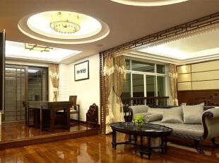 ,280平,60万,中式,复式,客厅,褐色,原木色,黄白,