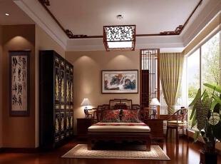 ,208平,50万,现代,四居,卧室,原木色,褐色,黄白,
