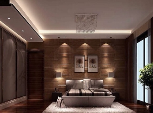 ,208平,50万,现代,四居,卧室,棕色,