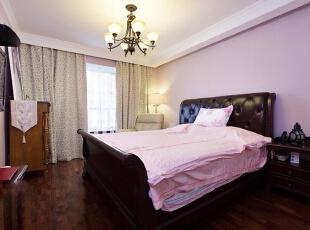 ,180平,35万,美式,三居,卧室,浅紫色,白色,
