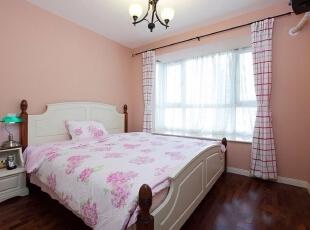 ,180平,35万,美式,三居,卧室,粉红色,白色,