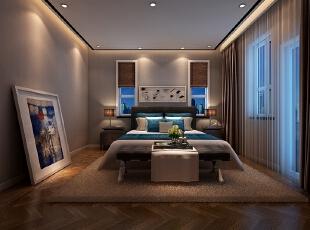,160平,80万,现代,三居,卧室,棕色,白色,
