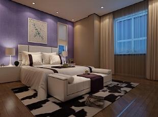 ,160平,80万,现代,三居,卧室,棕色,紫色,