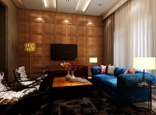 ,160平,80万,现代,三居,客厅,咖啡色,棕色,