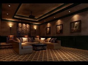 ,160平,80万,现代,三居,休闲室,棕色,褐色,