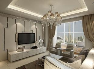 ,150平,12万,简约,三居,客厅,白色,