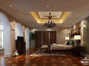 ,730平,400万,混搭,别墅,卧室,棕色,白色,