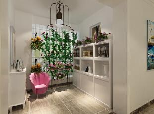 怡丰新都汇123平3室2厅现代简约风格装修方案——休闲区装修效果图,123平,8万,现代,三居,休闲区,白色,