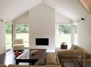 ,500平,80万,现代,别墅,客厅,白色,