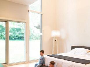 ,500平,80万,现代,别墅,卧室,白色,