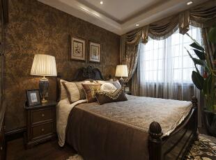 ,268平,24万,新古典,别墅,卧室,棕色,白色,