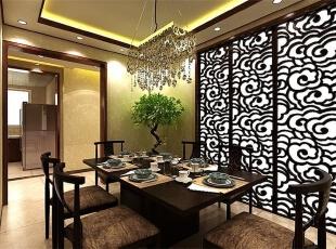 ,220平,12万,中式,四居,餐厅,春色,黑白,