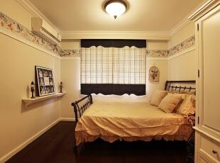 ,120平,10万,美式,三居,卧室,黄色,