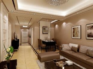 ,120平,7万,现代,三居,客厅,暖色,白色,