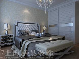 昌建誉峰120平三室两厅简欧装修卧室布局样板间,120平,24万,小资,三居,卧室,黄白,