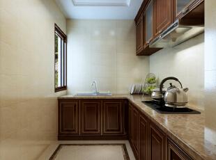 ,400平,60万,混搭,四居,厨房,原木色,白色,