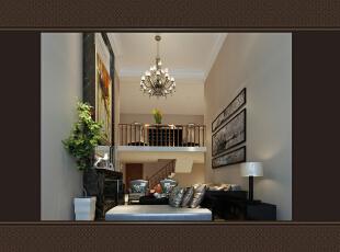,400平,60万,混搭,四居,客厅,暖色,