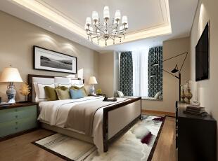 ,400平,60万,混搭,四居,卧室,暖色,