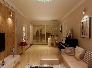 ,90平,4万,欧式,两居,客厅,暖色,白色,