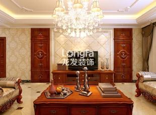 石家庄西美五洲天地260㎡户型欧式装修效果图案例,260平,30万,欧式,大户型,客厅,原木色,黄白,