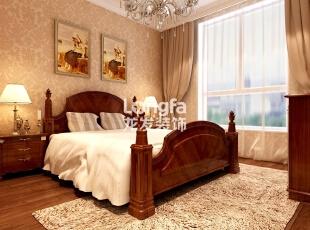 石家庄西美五洲天地260㎡户型欧式装修效果图案例,260平,30万,欧式,大户型,卧室原木色,暖色,