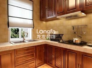 石家庄西美五洲天地260㎡户型欧式装修效果图案例,260平,30万,欧式,大户型,厨房,原木色,