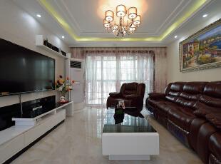 ,150平,20万,现代,三居,客厅,黑白,