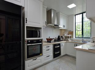 ,150平,20万,现代,三居,厨房,黑白,