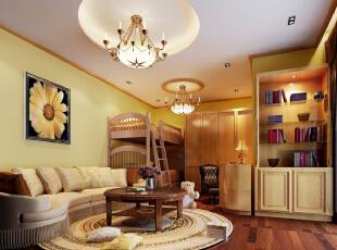 卧室:繁花似锦的地毯,奢华的装饰镜,敦厚精美的床,都能带出古典欧式风格特有的质感。,483平,25万,欧式,四居,卧室,原木色,黄白,