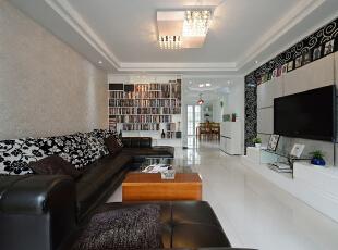 ,120平,18万,现代,三居,客厅,黑白,