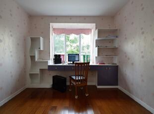 ,120平,18万,现代,三居,书房,粉红色,紫色,白色,