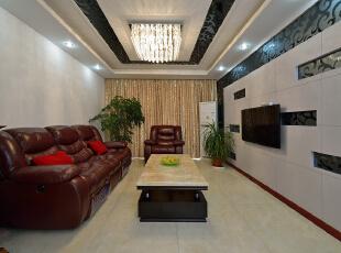 ,160平,38万,现代,复式,客厅,黑白,