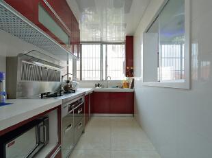 ,160平,38万,现代,复式,厨房,红木色,白色,