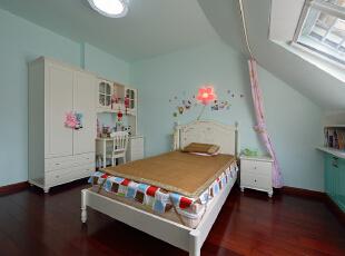 ,160平,38万,现代,复式,卧室,浅绿色,