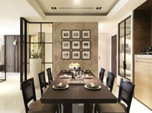 ,126平,11万,现代,三居,餐厅,黑白,