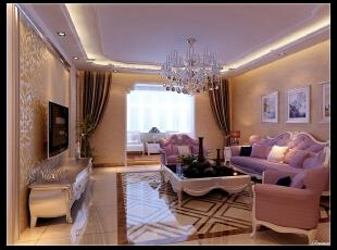平阳景苑170平--四居室--客厅装修设计—简欧装修设计效果图,170平,欧式,四居,客厅,阳台,美式,