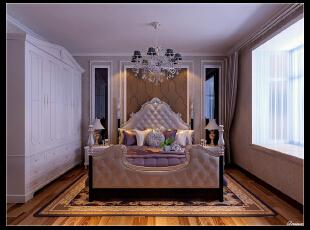 平阳景苑170平--四居室--主卧室装修设计—简欧装修设计效果图,欧式,卧室,小资,紫色,