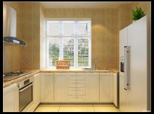 平阳景苑170平--四居室--厨房装修设计—东唐装饰 简欧装修设计效果图,欧式,四居,厨房,白色,田园,