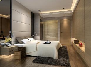 主卧室设计,130平,35万,现代,三居,卧室,