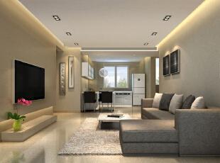 客厅设计,130平,35万,现代,三居,
